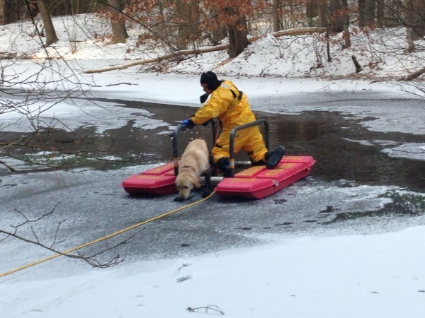 og Rescued after Fall through Ice 2014Jan07