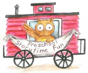 Preschool Storytime Fun Train Car Logo - Small File for Web